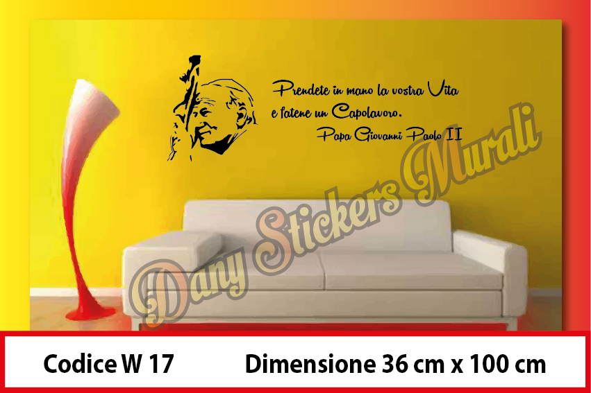 W 17 Papa Giovanni Paolo Ii Dany Graphic Stickers
