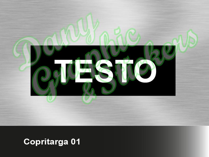 Ct 01 Copri Targa Personalizzato Dany Graphic Stickers