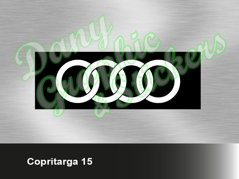 Ct 15 Copri Targa Personalizzato Audi Dany Graphic Stickers